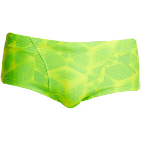 Funky Trunks Classic Slip Heren, groen/geel